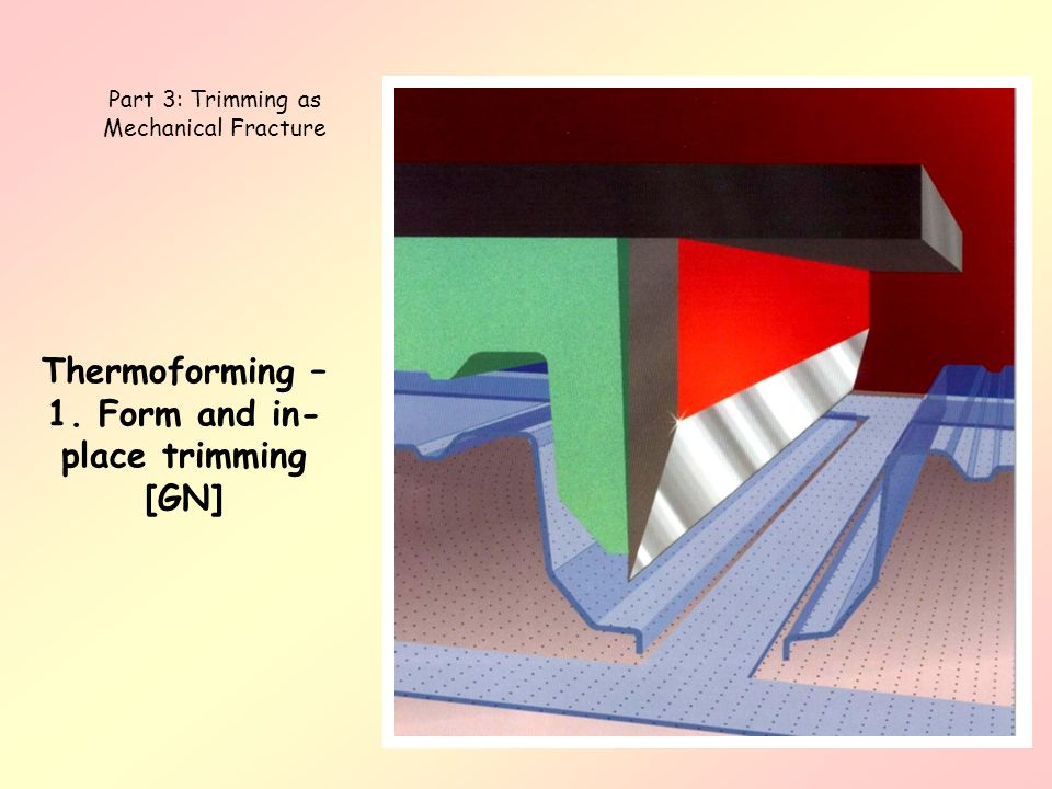 Thermoforming – 1. Form and in-place trimming [GN]